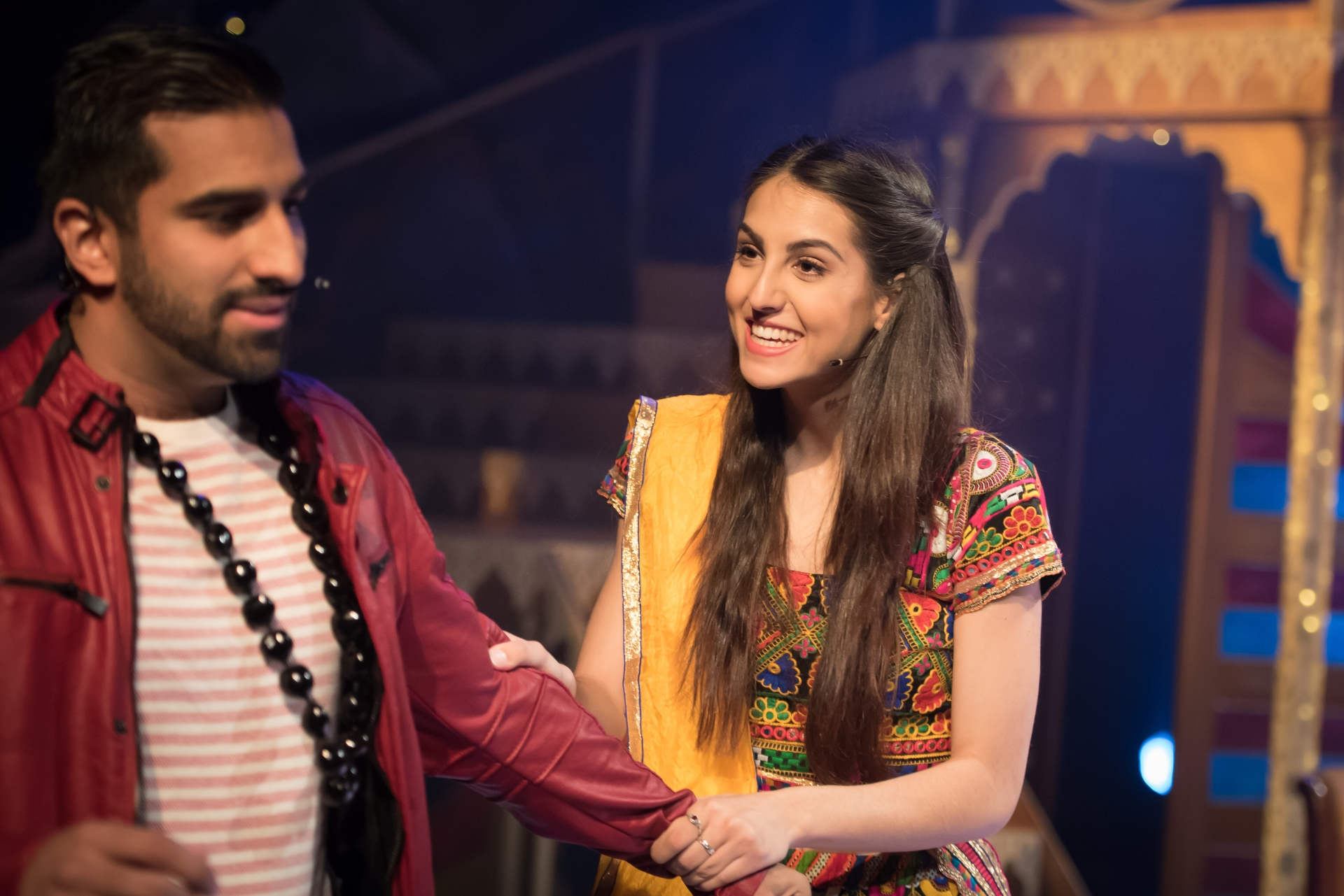 Sophie Kandola as Rehka and Yanick Ghanty as Amit Kapoor - Credit Nicola Young.jpg
